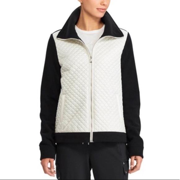 NWT Lauren Ralph Lauren QuiltedFront Fleece Jacket